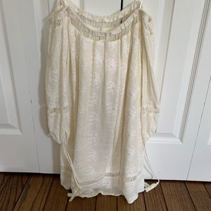 Floral white off the shoulder dress, never worn